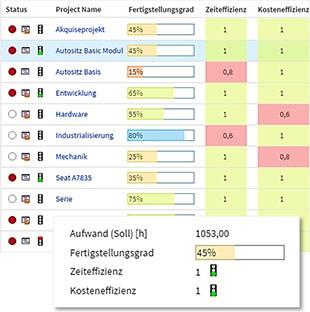 Projektmanagement Project Office Fortschritt